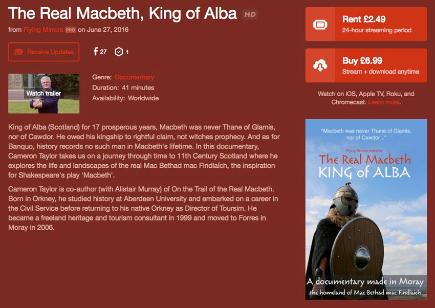 now available from vimeo the real macbeth
