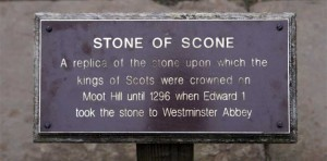 Stone of Scone Sign
